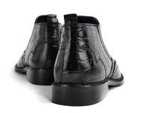 对皮革人的鞋子 免版税图库摄影