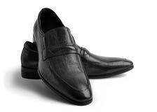 对皮革人的鞋子 免版税库存照片