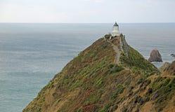 对矿块点灯塔的足迹 免版税库存图片