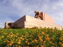 对矿工的纪念碑 免版税库存图片