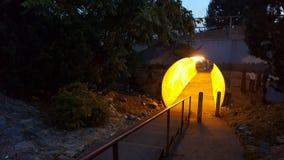对码头的隧道 免版税库存图片