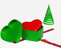 对礼品您的重点,圣诞节 免版税库存照片