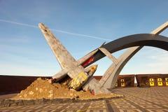 对祖国`的天空的`防御者的一份纪念品 库存图片