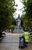对福纳多麦哲伦的一座纪念碑在蓬塔阿雷纳斯 库存图片
