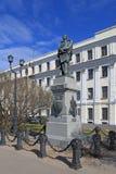 对科学家和旅客俄国水手彼得Pakh的纪念碑 库存照片