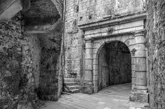 对科托尔老镇的入口 库存图片