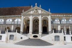 对科英布拉大学的入口,葡萄牙 免版税库存照片