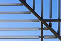 对称做的屋顶的钢 库存照片