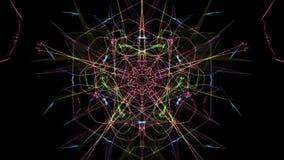对称和五颜六色的设计 数字式图表 库存例证