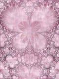 对称紫色桃红色花 库存照片