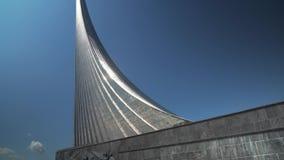 对空间的征服者的纪念碑在宇航员储蓄英尺长度录影胡同的  股票视频