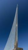 对空间的征服者的纪念碑在莫斯科 免版税库存照片