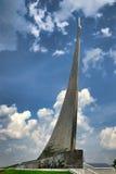 对空间的征服者的纪念碑在VDNKh,莫斯科的 库存照片