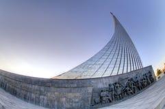 对空间的征服者的莫斯科纪念碑 库存照片