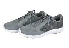 对穿上鞋子体育运动 免版税库存照片