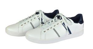 对穿上鞋子体育运动 免版税库存图片