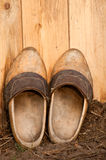 对穿上鞋子木 免版税库存图片