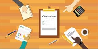 对章程处理标准产业公司的服从 免版税库存图片