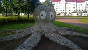 对章鱼的一座纪念碑 免版税库存图片
