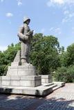 对第一个波兰军队的战士的纪念碑 库存照片