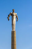 对第一位宇航员加加林的纪念碑在莫斯科 库存照片