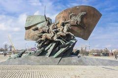 对第一次世界大战的英雄的纪念碑 片段 莫斯科 库存照片