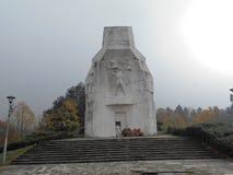 对第二次世界大战的下落的退役军人的一座纪念碑 图库摄影