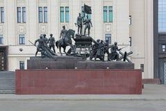 对第二次世界大战的英雄的纪念碑 库存照片