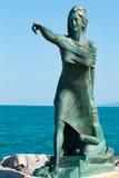 对等候他们的从海的丈夫的回归妇女的纪念碑在里米尼 库存图片
