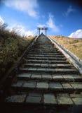 对箱根Motomiya寺庙的步 图库摄影