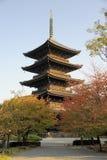 对籍寺庙复合体的塔 免版税库存图片