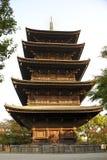 对籍寺庙复合体的塔 图库摄影