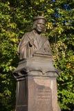 对米卡艾尔・阿格里高拉10月下午的纪念碑 俄国vyborg 免版税库存照片