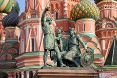 对米宁和Pozharsky的纪念碑 库存照片