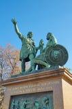 对米宁和Pozharsky,莫斯科,俄罗斯的纪念碑 库存照片