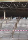 对米斯克竞技场冰曲棍球冠军圆顶大门的台阶  库存照片