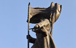 对红军人的纪念碑 免版税库存照片