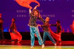 对红旗北京舞蹈学院分级的测试卓著的儿童` s舞蹈教的成就陈列江西的抒情诗 库存图片