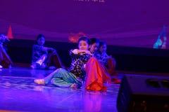 对红旗北京舞蹈学院分级的测试卓著的儿童` s舞蹈教的成就陈列江西的抒情诗 免版税库存照片