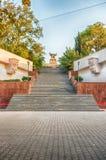 对纪念碑的风景楼梯对亚历山大Kazarsky, Sevastop 库存照片