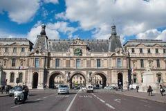 对罗浮宫的入口 库存照片