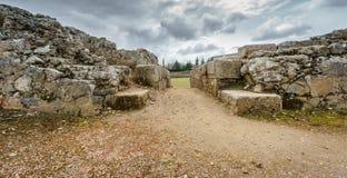 对罗马马戏的废墟的入口 库存照片