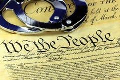 对美国宪法的第四个校正 免版税库存照片