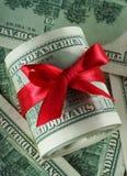 对美国美元的金钱 免版税库存照片