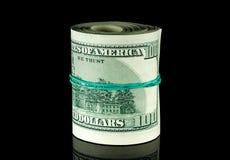 对美国美元的金钱 库存图片