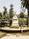对美国自由的纪念碑,位于Th的大理石雕塑 库存照片