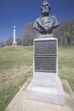 对美国马塞勒斯M准将的纪念品 1863的Crocker,在Vicksburg全国军事公园, MS 免版税库存图片