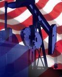 对美国0IL产业的进贡 免版税库存照片