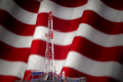 对美国0IL钻产业的进贡 免版税库存图片