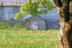 对老农舍的前面门道入口 免版税库存图片